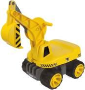 BIG 800055811 'BIG-Power-Worker Maxi Digger' Rutscher, ab 3 Jahren, bis 50 kg belastbar, gelb