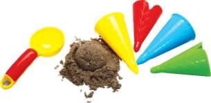 Gowi Sandform Eiscreme, Set 5 Teile im Netz Sandspielzeug