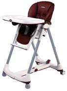 Peg Perego 'Prima Pappa Diner' Hochstuhl Leather - Bordeaux (Lederimitat)
