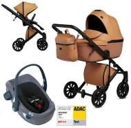 Anex 'e/type' Kombikinderwagen 4plusin1 2020 in Caramel mit Swandoo Babyschale