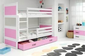 Interbeds 'RICO' Etagenbett weiß/rosa 80x190cm