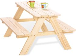 Pinolino 'Nicki für 4' Kindersitzgarnitur natur