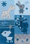Sam 4151 Blau Animals 110x160 cm