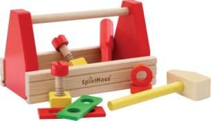 Spielmaus Holz Werkzeugkasten, 10tlg.