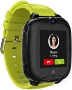 XPLORA Go 2 Kinder-Smartwatch Silikonrarmband, Grün/Schwarz