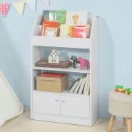 SoBuy Bücherregal mit 2 Türen weiß