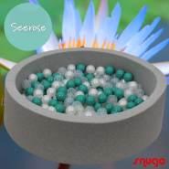 Bio Premium Bällebad SEEROSE in hellgrau mit 300 Bällen aus Zuckerrohr