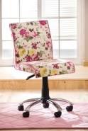 Cilek FLORA Drehstuhl Stuhl Kinderdrehstuhl Schreibtischstuhl Weiß/Rosa