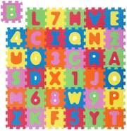 Puzzlematte Kinder Spielmatte Bodenmatte Kinderteppich Buchstaben und Zahlen Bunt