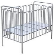 Kinderbett Gitterbett Babybett aus Metall Polini Vintage 150 silber