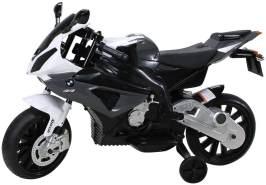 Toys Store - Kindermotorrad BMW S1000RR Lizenz Kinderelektro Motorrad Kinderfahrzeug Dreirad Schwarz