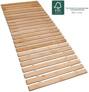 Betten-ABC Premium Rollrost, Stabiles Erlenholz, mit 23 Leisten und Befestigungsschrauben Größe 80x200
