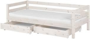 Flexa 'Classic' Einzelbett weiß, 90x200 cm, inkl. 2 Schubladen