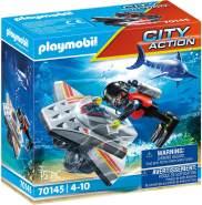 Playmobil City Action 70145 'Seenot: Tauchscooter im Rettungseinsatz', 15 Teile, ab 4 Jahren