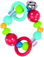 Heimess Elastic Touch Ring (rot, Polka Dot Bead)