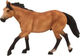 Mojo Quarter Pferde-Figur, Wildleder