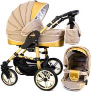 Tabbi ECO X GOLD | 2 in 1 Kombi Kinderwagen Hartgummi Beige