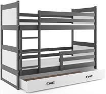 Interbeds 'RICO' Etagenbett weiß/grau 90x200cm