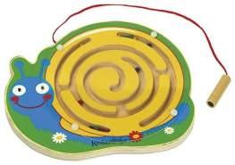 holzlabyrinth mit magnetischer Bleistiftschlacke