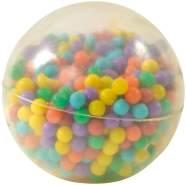 Perlenball mit Luft und bunten Perlen, aus Silikon, Durchmesser ca. 8,5 cm, von Eduplay