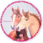 Kinderteppich 'Pferdefreunde' Ø100cm