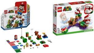 LEGO® Super Mario 2er Set: 71360 Abenteuer mit Mario - Starterset + 71382 Piranha-Pflanzen-Herausforderung - Erweiterungsset