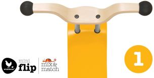 Wishbone Mini-Flip Top Mix und Match Yellow