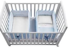 ITALBABY Babynestchen für Zwillinge, hellblau