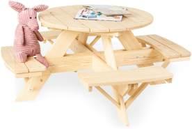 Pinolino 'Nicki für 4 rund' Kindersitzgarnitur, natur
