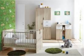 Ticaa 'Nico' 3-tlg. Babyzimmer-Set Sonoma-Weiß