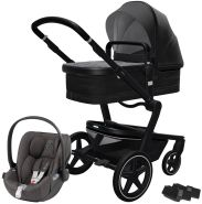 Joolz 'Day+' Kombikinderwagen Brilliant Black inkl. Cybex Cloud Z Plus Babyschale Soho Grey