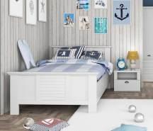 Einzelbett Jugendbett MARIDA 120 x 200 cm Optik: Weiß matt