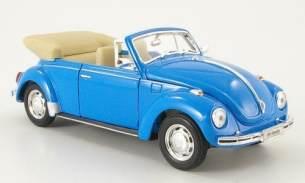 Unbekannt Welly 22091 Blue - Sammlermodell VW Käfer Cabrio offen, 1/24 aus Metall, blau