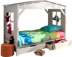 Vipack 'Pino' Hausbett weiß, inkl. 2 Bettschubladen