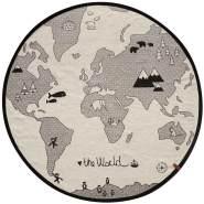 Oyoy 'Weltkarte' Kinderteppich schwarz/weiß
