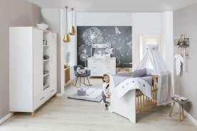 Kinderzimmer-Set Coco White mit Schrank 2-türig
