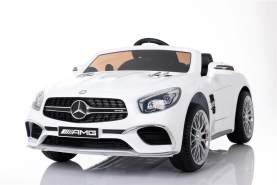 """Mercedes Benz Sl65 Amg Kinder Elektro Auto Fahrzeug Kinderauto Mp3 Aux Usb weiß"""