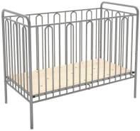 Babybett Gitterbett Kinderbett aus Metall Polini Vintage 110 silber
