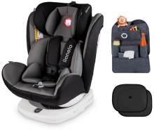 lionelo Bastiaan grau + ORGANIZER + Sonnenschutz Auto Kindersitz mit Isofix Baby Autositz