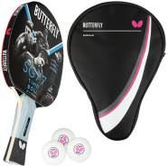 Butterfly 1x Timo Boll SG77 Tischtennisschläger + Tischtennishülle Drive Case + 3x 40+ 3*** Tischtennisbälle