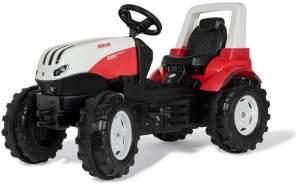 Rolly Toys 700042 rollyFarmtrac Trettraktor Steyr 6300 Terrus CVT (ab 3 Jahre, Flüsterlaufreifen, Verstellbarer Sitz)