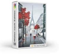 Picmondoo - Malen nach Zahlen Set Rote Liebe in Paris 60x75cm