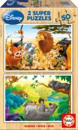 Educa 13144 - Holzpuzzle - Disney Animal Friends, 2 x 50 Teile