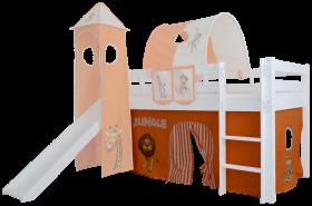 Mobi Furniture 3tlg. Vorhang Set Dschungel für Hochbett