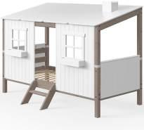 Flexa 'Classic' Hausbett weiß/ braun 90x200