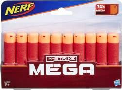 Hasbro Nerf A4368EU4 - Mega 10er Dart Nachfüllpack, Spielzeugblasterzubehör