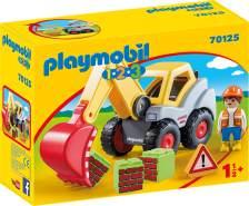Playmobil 1.2.3 70125 'Schaufelbagger', 6 Teile, ab 1,5 Jahren