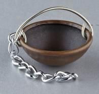 Kupferkessel für Krippen, Hobby- und Modellbau, 10 mm mit Kette