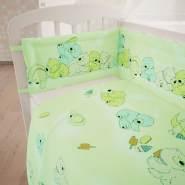 Polini Kids 3-tlg Baby-Bettwäschenset 'Teddybär - Grün' 120x60