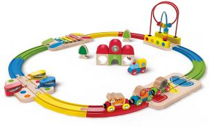 Hape E3816 Railway Spielzeug-Erlebnis Eisenbahn-Set
